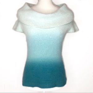 Bebe Ombré Angora Cowl Neck Sweater